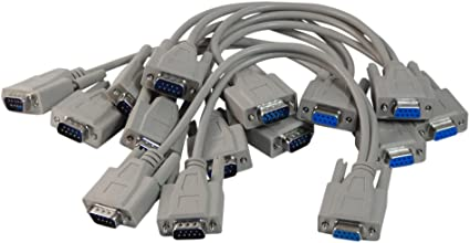30cm DB9 Y Splitter Cable DB9 9 Pin 1 Male to 2 Female Rs232 Serial Splitter Adapter Straight-Through Cable YOUCHENG for Connect Various Serial Interface Devices