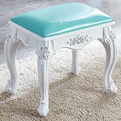 Chairs & Stools Quadratischer Stuhl, Hocker für Schminktisch, Make-up-Hocker Mit ABS-Beinen, für Schminktisch Badezimmer Schlafzimmer 40x29x35cm 200kg Kapazität