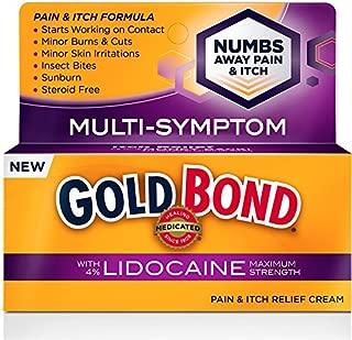 Gold Bond Pain & Itch Formula W/4% Lidocaine 1.75 oz (2 Pack)