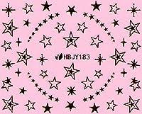 ネイルシール ハート スター 星 ポップ 選べる36種類 (ゴールドMG, 29)