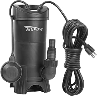 Trupow 1HP 110V Submersible Electric Plastic Sewage Drain Flood Clean/Dirty Water Sump Transfer Pond Garden Pump