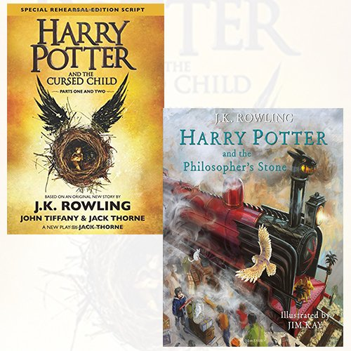 Harry Potter and the Cursed Child, Parts 1 & 2 and Harry Potter and the Philosopher's Stone 2 Books Bundle Collection - Book  of the Harry Potter