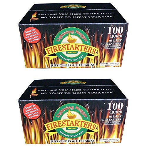 Find Bargain Lightning Nuggets N100SEB Firestarters Super Economy Box of Fire-Starting Nuggets, 100 ...