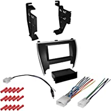 CACHÉ KIT590 Bundle with Complete Car Stereo Installation Kit Compatible with 2015-2016 Toyota Camry - in Dash Mounting Kit, Harness, Antenna for Single or Double Din Radio Receiver (4 Item)