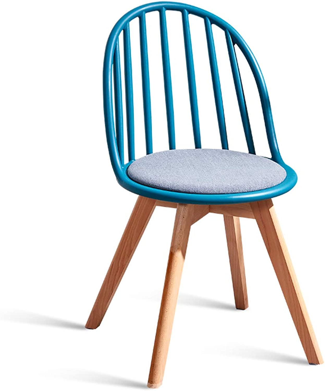 LRW Nordic Dining Chair, Back Chair, Dining Room, Modern Leisure Chair, Stool, bluee