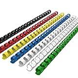 Plastikbinderücken CR-12-100-M-UK, 21 Ring, 12 mm Mehrfarbig Kunststoff-Bindungen-Binderücken 100 Stück RAYSON