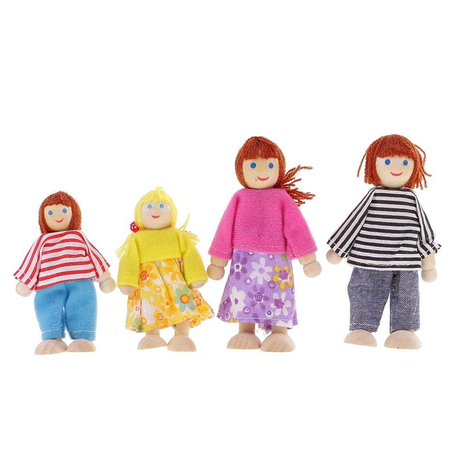 シュート乗算社員1/12ドールファミリー ドール家族 人形 かわいい 装飾 4個