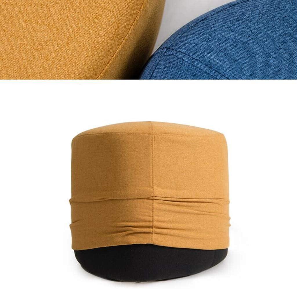GWM Tabouret, Petit Siège, Creative Canapé Paresseux Table Basse Tabouret Banc Tissu Bloc Modern Footstool Accueil Petit Tabouret (Color : Apricot Yellow) Apricot Yellow