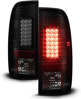 ACANII -For Black Housing Smoke Lens 08-16 Ford F250 F350 F450 SuperDuty Lumileds LED Tail Lights Lamps Driver+Passenger