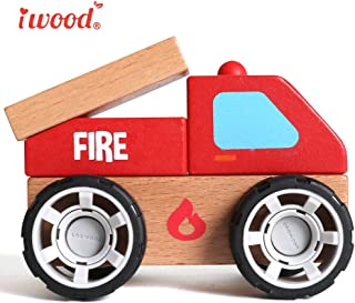 wood fire truck toy