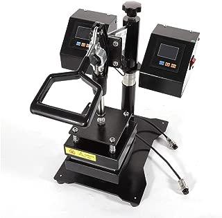 New Updated!! Heat Press Machine Dual Heating Elements Swing-Arm Manual Multifunctional Heat Press Machine for T-Shirts Hat Mug Plate Cap New Updated!!