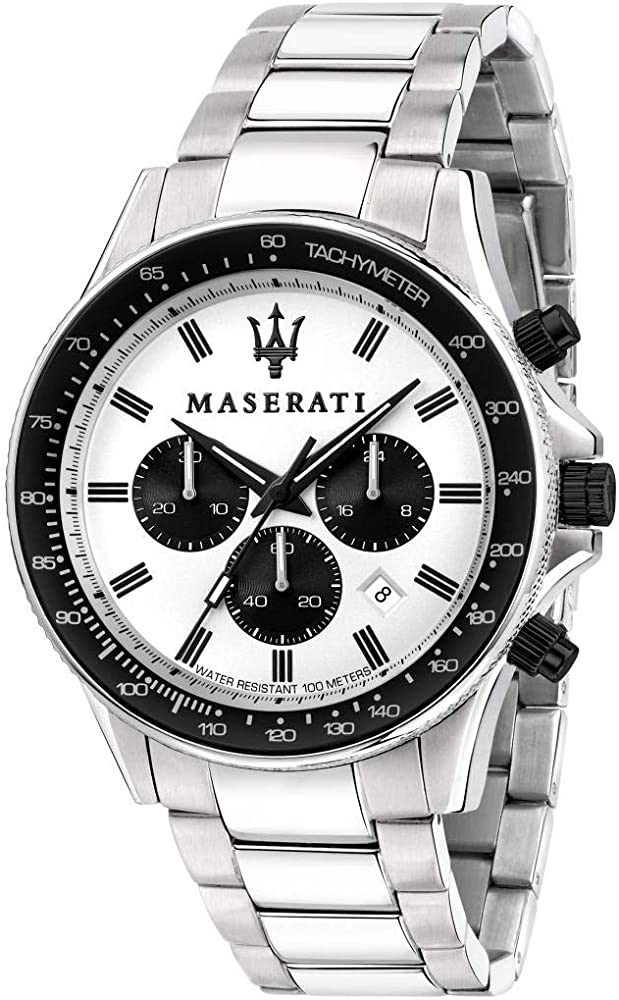Maserati orologio da uomo, collezione sfida, in acciaio 8033288894766