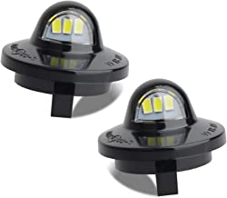 RUXIFEY LED License Plate Light Lamp Assembly Compatible with Ford F150 F250 F350 F450 F550 Superduty Ranger Explorer Bronco Excursion Expedition, 6500K White, Pack of 2