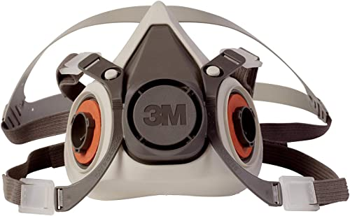 3M Half Facepiece Reusable Respirator 6100, Gases, Vapors, Dust, Paint, Cleaning, Grinding, Sawing, Sanding, Welding,...