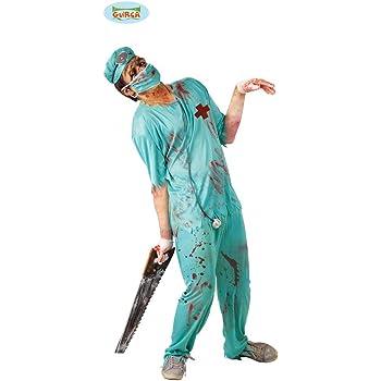 Disfraz de cirujano de quirófano zombie - Estándar: Amazon.es ...