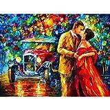 LFLFLF Adultos 5000 Piezas Puzzle 3D Puzzle Pintura al óleo Amantes Calle DIY Mural Moderno Decoración del hogar