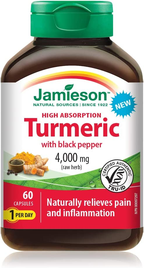 Jamieson High Absorption Curcumin Recommendation Turmeric 0 Pepper Black with 4 NEW before selling ☆