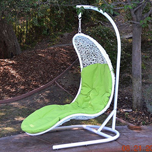 Enclave Lounge Swing Bed Chair Wicker Rattan...