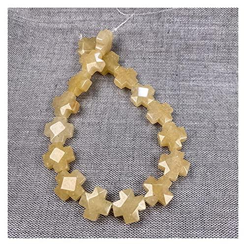 Joyas para mujeres Piedra natural Agates con cuentas facetas Facetadas Forma de forma cruzadas Perlas espaciadoras sueltas para la fabricación de joyas BRICOLAJE Accesorios de collar de pulsera al men
