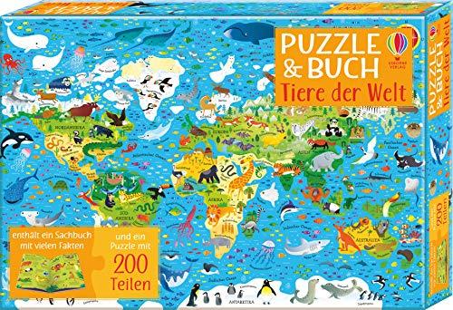 Puzzle Und Buch. Tiere Der Welt