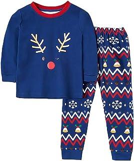 Hibobi Cotton Boy Baby Pajamas Set Elk Pattern baby Outfits Top and Pants