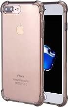 for iPhone 7 Plus Case, for iPhone 8 Plus Case, Matone Crystal Clear Shock Absorption Technology Bumper Soft TPU Cover Case for iPhone 7 Plus (2016)/iPhone 8 Plus (2017) - Light Grey