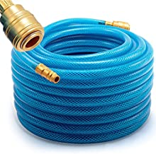 Deuba manguera neumática para aire comprimido 20 m 15 bar presión de aire herramienta con compresores acople rápido