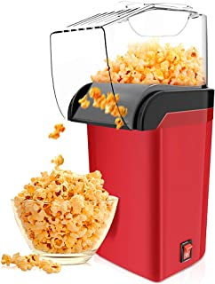 Hot Air Popcorn Maker Machine 1200W, RegeMoudal Home Popcorn Maker with Removable Top Cover and Measuring Spoon, Healthy O...