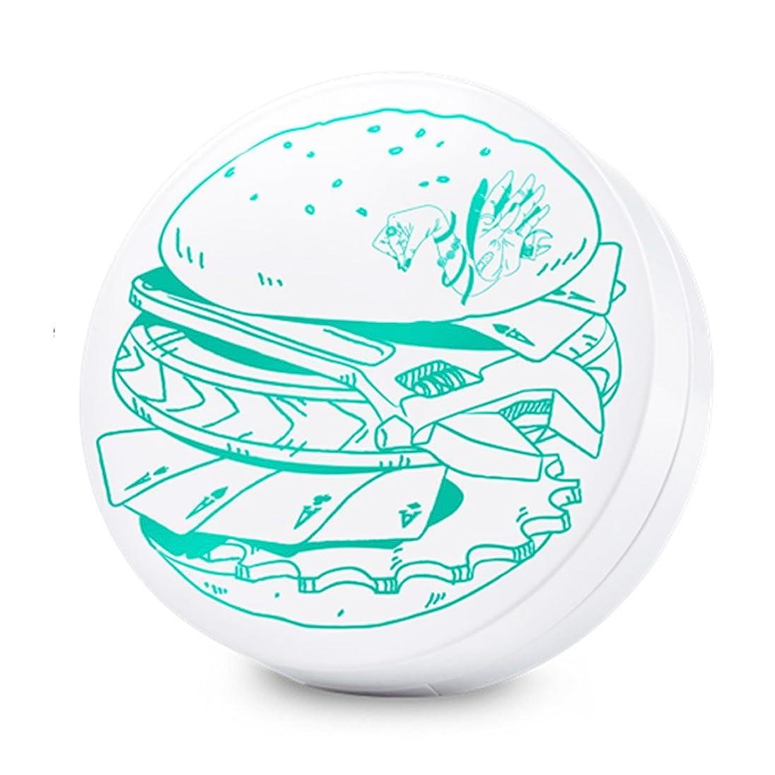 スカーフタワー山積みのSwanicoco AC burger Cushion (wt Refill) (Yellow Base)