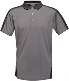Mens Contrast Coolweave Polo Shirt