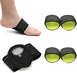 Bufccy Arch Support Brace for Plantar Fasciitis Socks 2 Pairs Compression Foot Support Sleeve for Foot Relief Cushions, Fa...