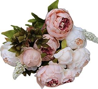 Feitengtd Artificial PE Fake Flowers Rose Floral Wedding Bouquet Bridal Hydrangea Decor PK
