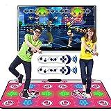 OFAY Tappetino da Ballo Doppio, Tappetini da Ballo per Videogiochi Tappetini da Gioco Musicale Applicabile Ad Adulti/Bambini, Tappeto da Ballo Doppio Wireless 3D Somatosensoriale