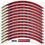 Ecoshirt 5R-I2MJ-Y6I7 - Stickers pour Jante Rim Mavic Crossmax SL Pro 26' et 27,5', Am50, pour VTT Downhill, Rouge