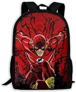 Justice League The Flash Mochila de Viaje para Adultos Se Adapta a Mochilas para portátiles de 15,6 Pulgadas Mochila Escolar para la Universidad Mochila Informal para Hombres y Mujeres