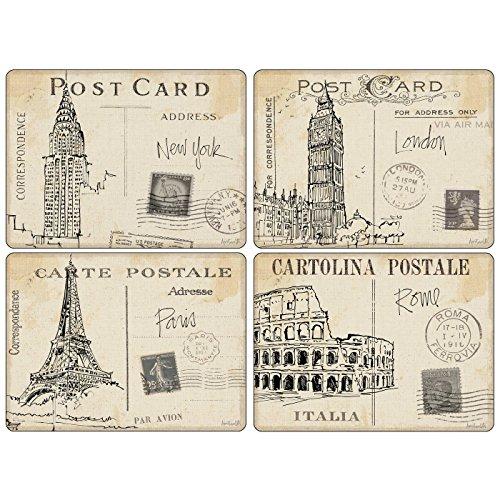 Postcard Sketches Tischunterlage 4 Stück (m)