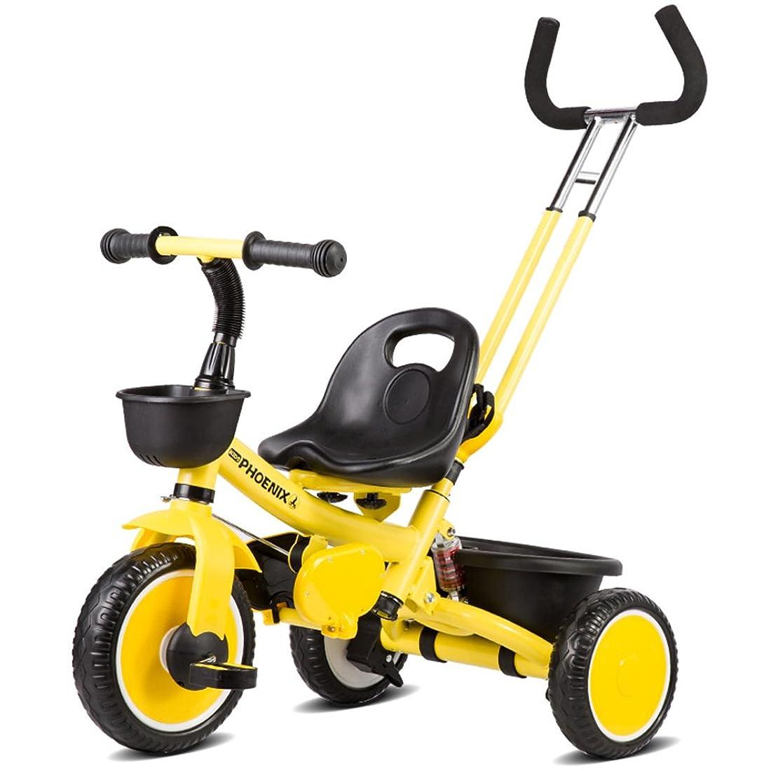負担赤本会議HAIZHEN マウンテンバイク 子供の三輪車6ヶ月 - 5歳180°回転式シート自転車調節可能なプッシュロッドEVAフォームダンピングホイール調節可能な長さのベルトベビーカー 新生児