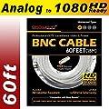 Crystal Vision Premium 1080P HD BNC CCTV Combo Cable Premade Siamese w/ coupler for Samsung, Lorex, Swann, Q-See, Defender, Amcrest, Zosi, Kguard, etc.