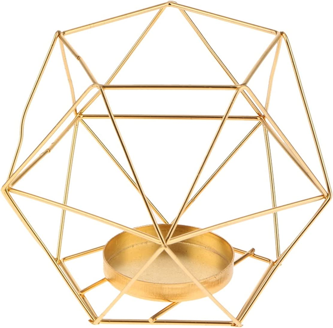 GLADMIN Copper 3D Geometric Iron Luxury goods Candlestick Wire Holder Candle High quality