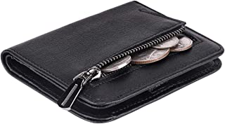 Small Wallet for Women Rfid Blocking Compact Bifold Leather Wallet Ladies Mini Purse with id Window