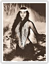 Pele's Sister - Namakaokahai, Hawaiian Sea Goddess - Vintage Sepia Toned Photograph by Alan Houghton c.1960s - Master Art Print 9in x 12in
