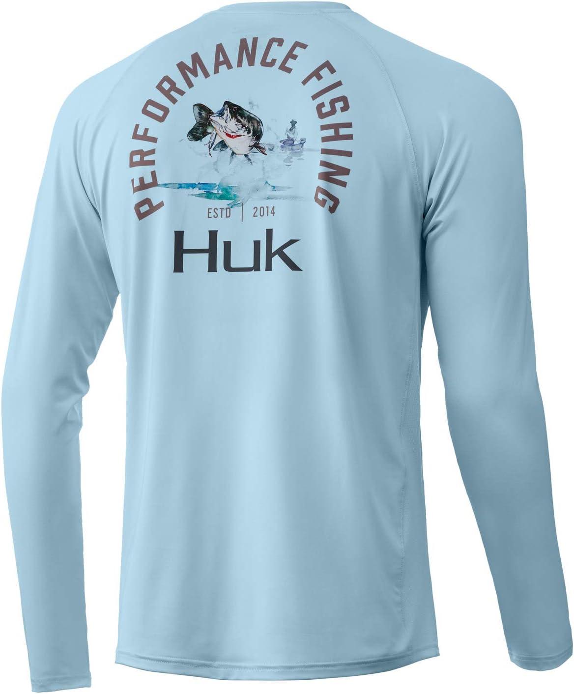 OFFicial store store HUK Men's Pursuit Long Sleeve Fishing Shirt Bass Protecting Sun