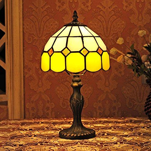8-Zoll-Mediterraner Stil Amber Tischlampe Nachttischlampe Schlafzimmer (4 Farben zur Auswahl) Sold only in Collection Outlets (Color : Yellow 2)