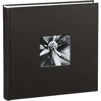 Hama Fotoalbum Jumbo 30x30 cm (Fotobuch mit 100 weißen Seiten, Album für 400 Fotos zum Selbstgestalten und Einkleben) schwarz