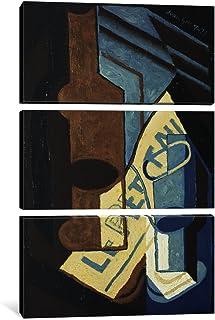 "iCanvasART 3 Piece Bottle and Glass; Bouteille et Verre, 1921 Canvas Print by Juan Gris, 60"" x 40""/0.75"" Deep"