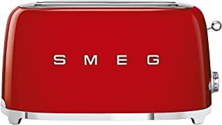 Smeg TSF02RDUK, 50's Retro Style 4 Slice Toaster,6 Browning Levels,2 Extra Wide Bread Slots, Defrost and Reheat Functions,...