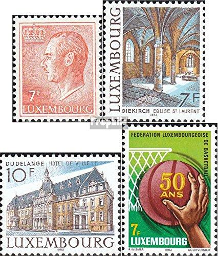 Prophila Collection Luxemburg 1080,1081-1082,1083 (kompl.Ausg.) 1983 Jean, Bauwerke, Basketball (Briefmarken für Sammler) Basketball/Volleyball/Handball