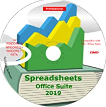 Spreadsheet Excel Office Suite 2019 Works Home Student and Business for Windows 10 8.1 8 7 Vista XP 32 64bit| Alternative to MicrosoftTM Office 2016 2013 2010 365 Compatible Word Excel PowerPoint