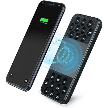 Powerbank wireless(10W Max )10000mAh Carica Rapida USB C 18W PD & USB A QC 3.0 Caricatore portatile induzione con Ventosa power bank batteria con 3 Ingressi & 3 uscite per iPhone11/XR,samsung