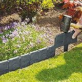 Parkland 80unidades) Gris Efecto de piedra Cobbled de plástico Jardín Césped Planta...